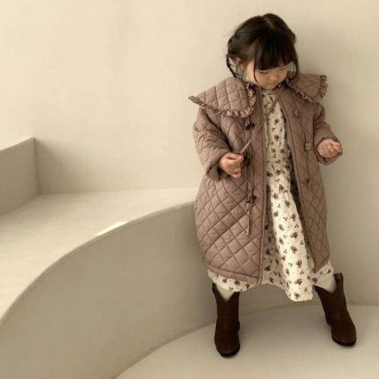 Lio Collar Quilted Coat (Beige Mocha)