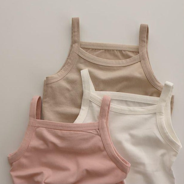 Yara Girls Underwear Vest and Knicker Set (Beige)