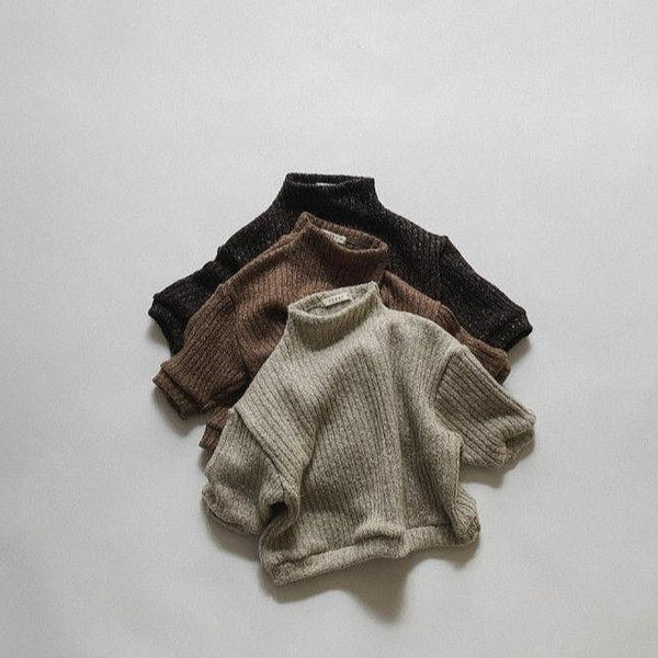 Dolce Funnel Neck Pullover (Oatmeal)