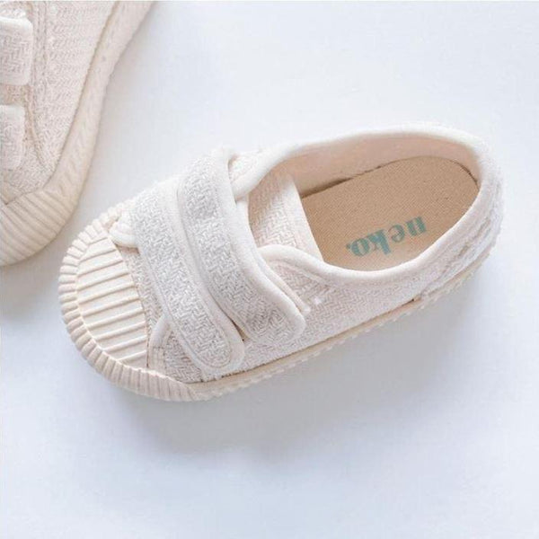 Dami Rubber Sole Velcro Trainers (Cream)