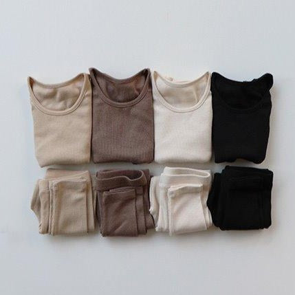 Indi Top and Leggings Basics Set (Beige)