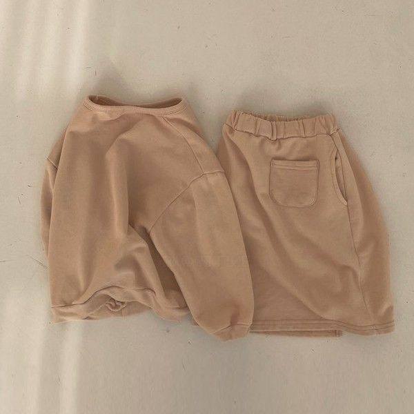 Cari Sweatshirt and Skirt Set (Caramel)