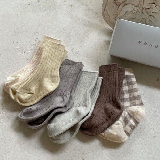Heni Organic Cotton Socks 6 Piece Set (Gingham)