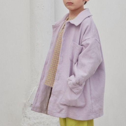 Nola Boxy Cotton Overshirt Jacket (Lilac)