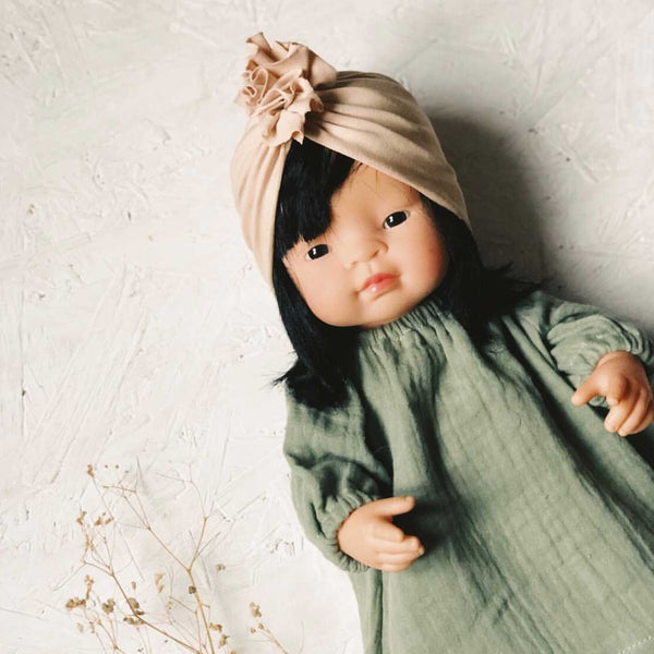 Knotted Turban Hat for Miniland Doll (Nude)