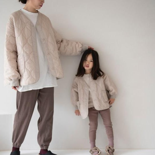 MAMA Mickey Quilting Jacket (Beige)