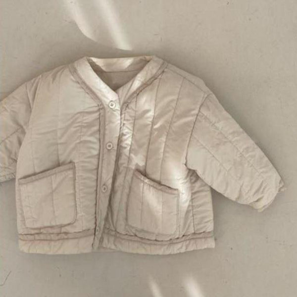 Roma Quilted Cotton Jacket (Cream)
