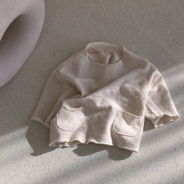 Bebo Oversized Long Sleeve Tee (Cream)