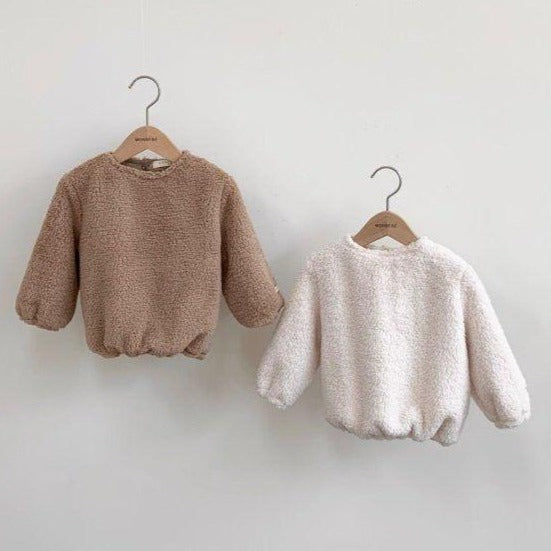 Teddy Sweatshirt Jumper (Camel)