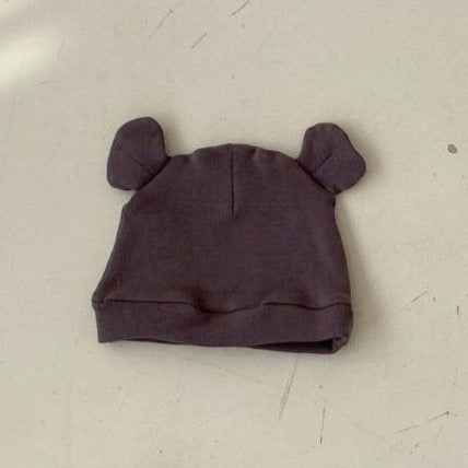 Saffy Cotton Ear Beanie (Charcoal)