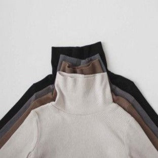 Rib Turtleneck Tee (Cream)
