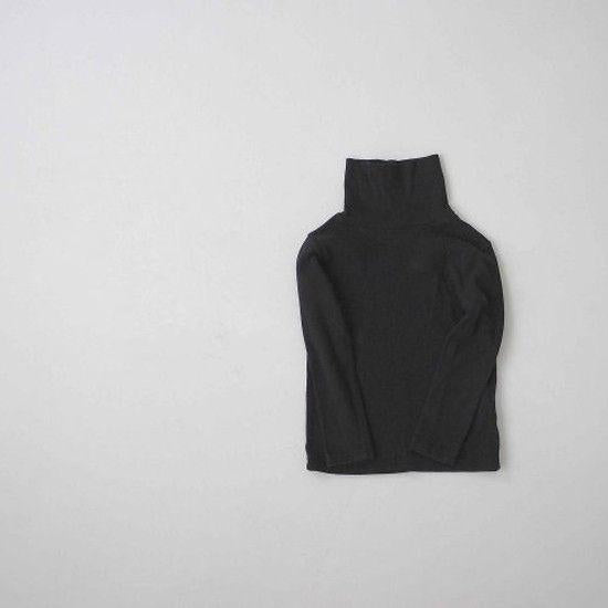 Rib Turtleneck Tee (Black)