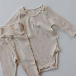 Indi Rib Bodysuit with Leggings (Ivory)