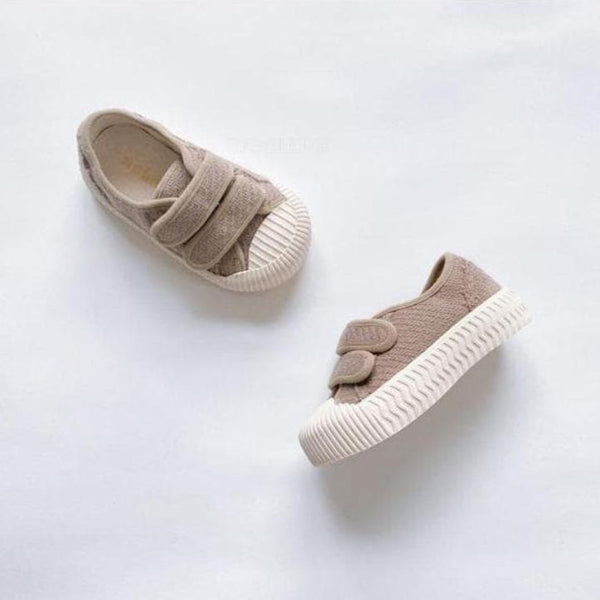 Dami Rubber Sole Velcro Trainers (Mocha)