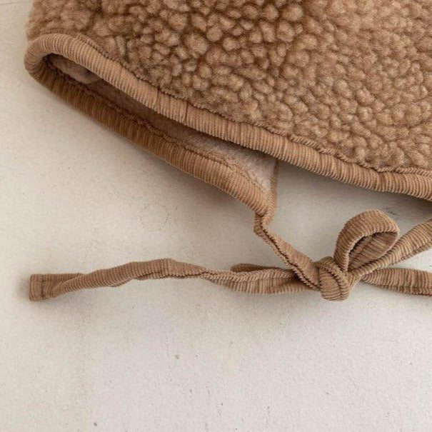 Bobi Teddy Bonnet Hat (Beige)