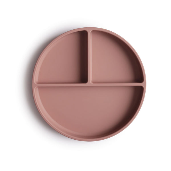 Silicone Suction Partition Plate (Cloudy Mauve)