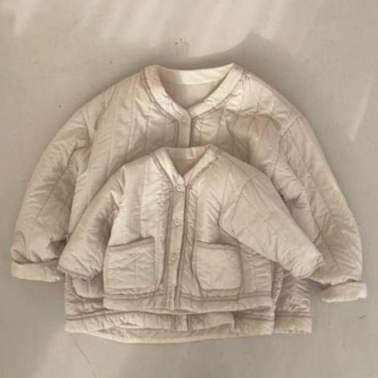 MAMA Roma Quilted Cotton Jacket (Cream)