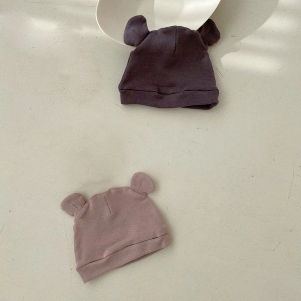 Saffy Cotton Ear Beanie (Blush)