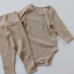 Indi Bodysuit with Leggings (Beige)