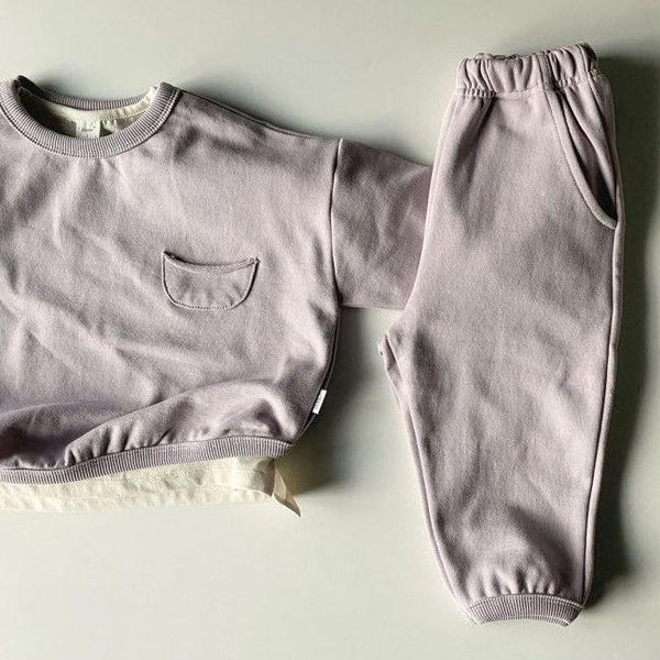 Weekly Basics Top and Bottom 2 Piece Set (Lavender)