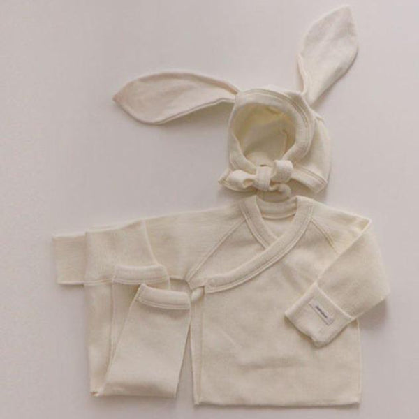 Bonnie Top, Leggings and Bunny Bonnet Set (Cream)