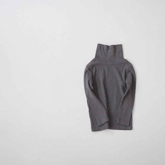 Rib Turtleneck Tee (Grey)