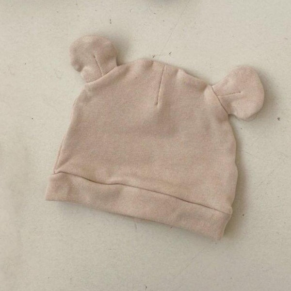 Saffy Cotton Ear Beanie (Ivory)