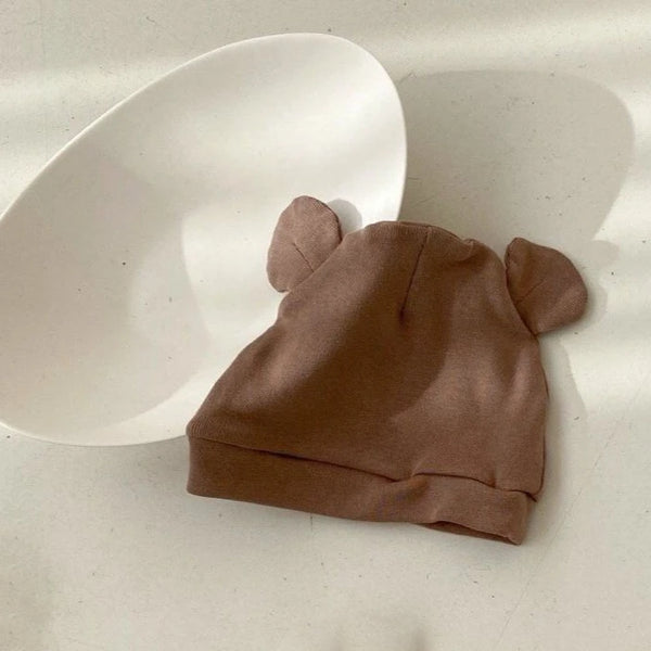 Saffy Cotton Ear Beanie (Caramel)