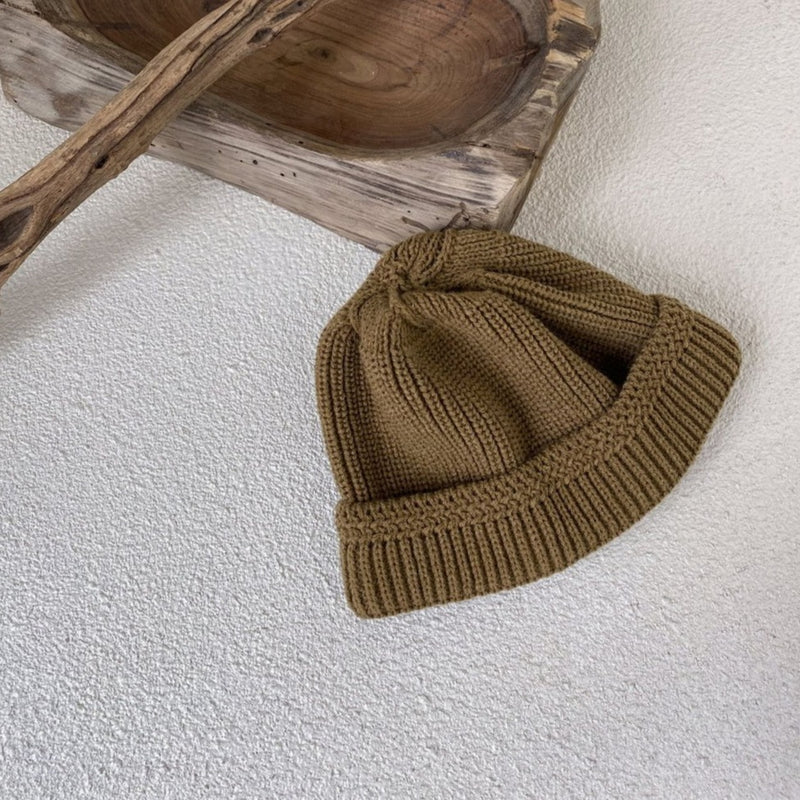 Fisherman Knit Beanie (Chocolate)