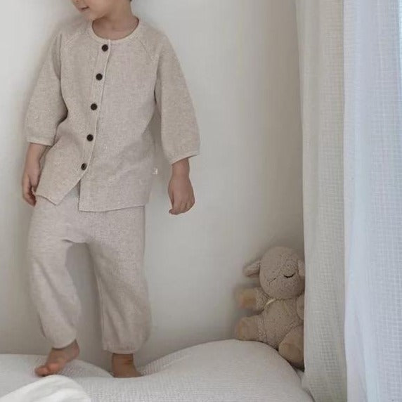 Rui Waffle Button Up & Trousers Set