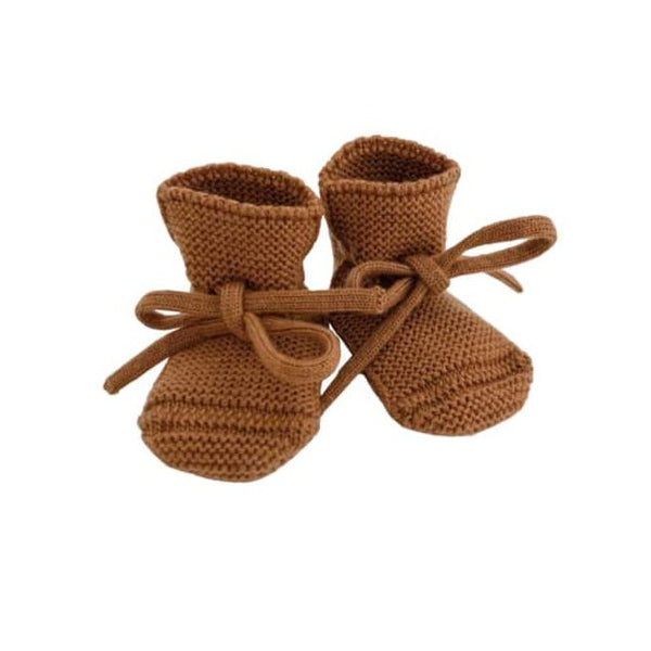 Merino Wool Booties (Rust)
