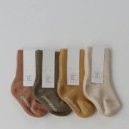 Leo Rib Ankle Socks 4 Piece Set