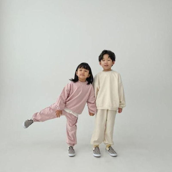 Ziggy Tracksuit Sweatshirt and Bottoms Set (Rose)