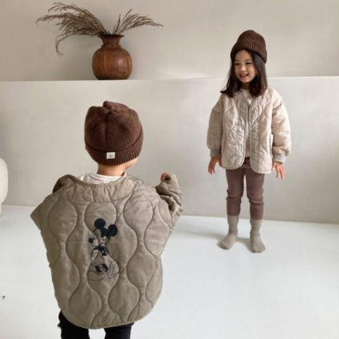 Mickey Quilting Jacket (Khaki)