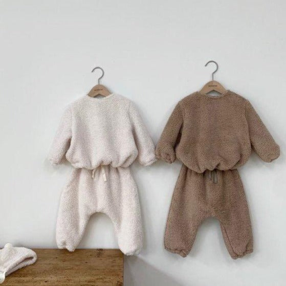 Teddy Sweatshirt Jumper (Cream)