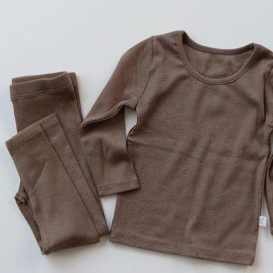 Indi Top and Leggings Basics Set (Mocha)