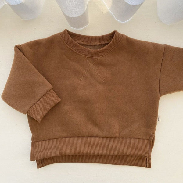 Cato Fleeced Sweatshirt (Toffee)