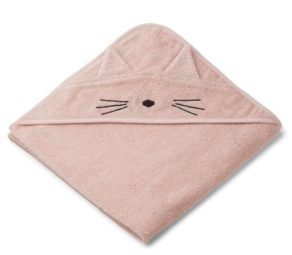 Augusta Cat Hooded Junior Towel (Rose)