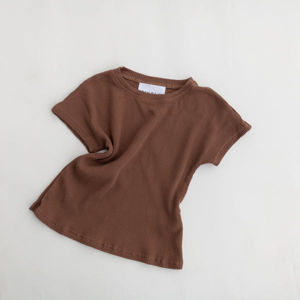 Daily Waffle T Shirt Dress (Brown)