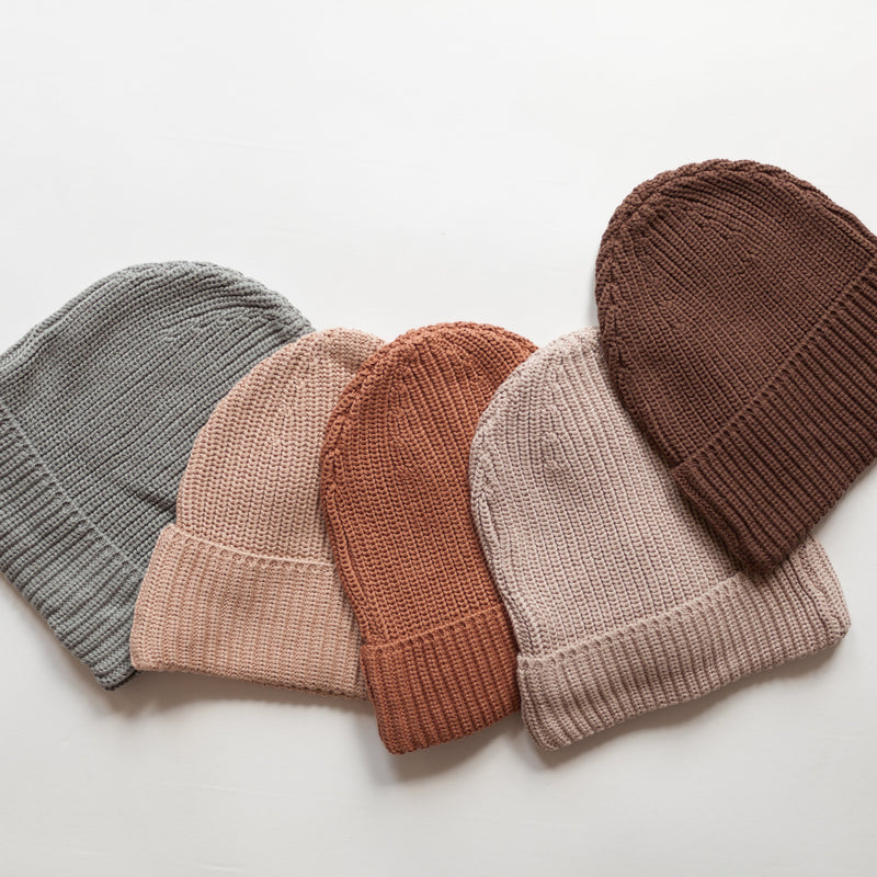 MAMA Kindly Chunky Knit Beanie (Pink Earth)