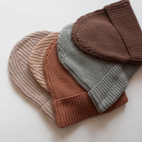 MAMA Kindly Chunky Knit Beanie (Chocolate Brown)
