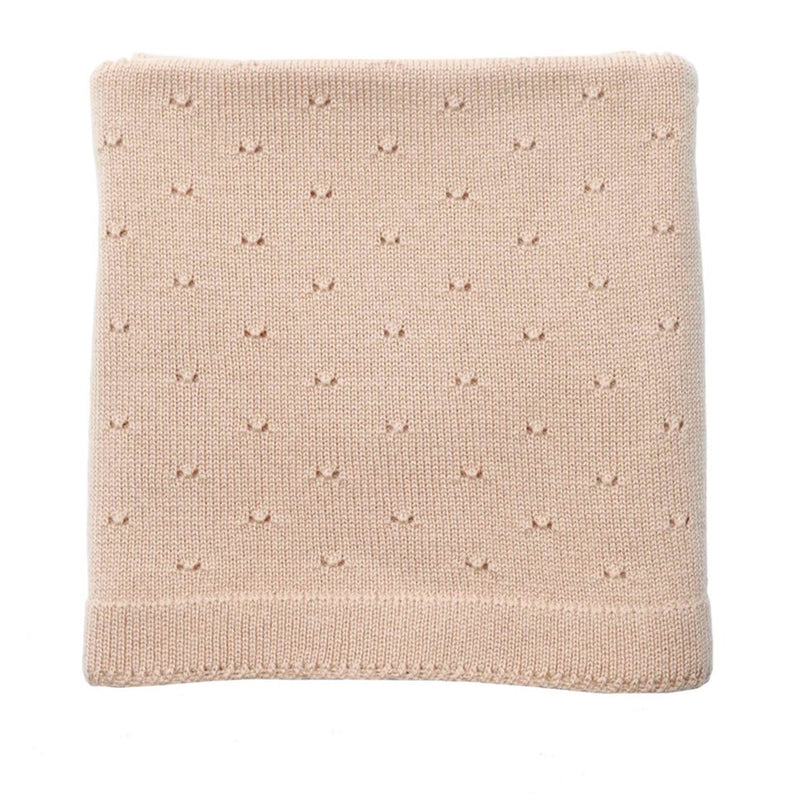 The Bibi Merino Wool Blanket (Apricot)