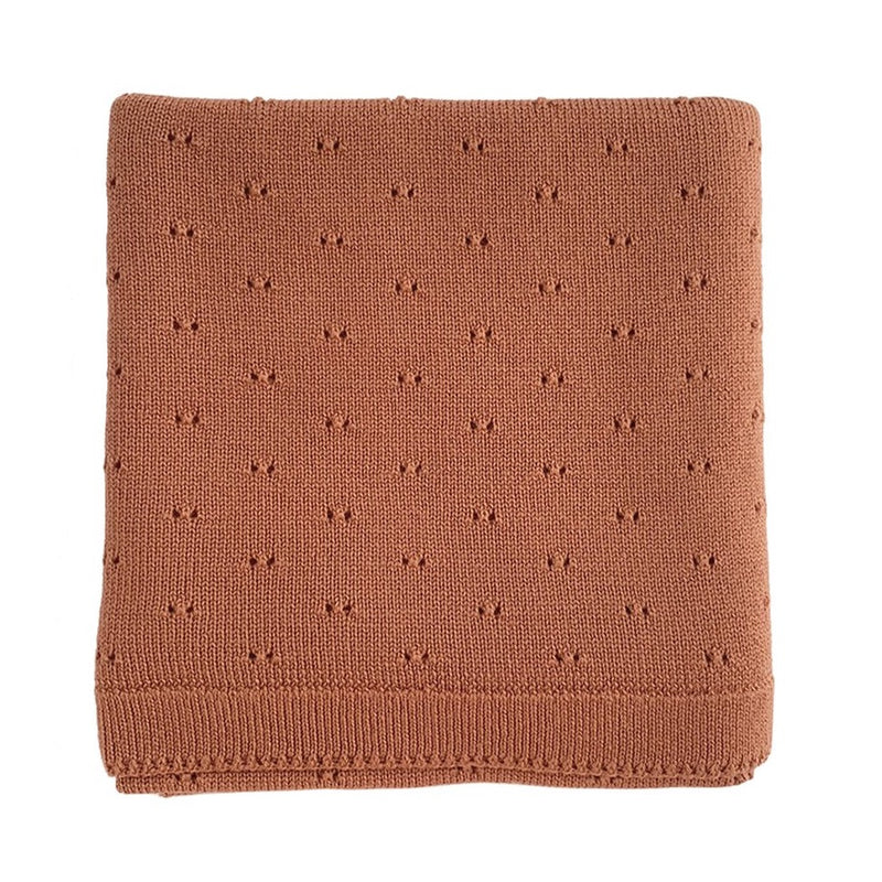 The Bibi Merino Wool Blanket (Brick)