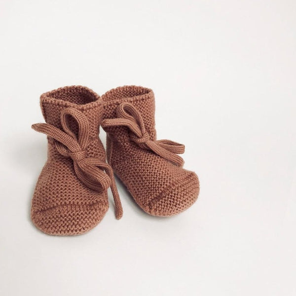Merino Wool Booties (Brick)