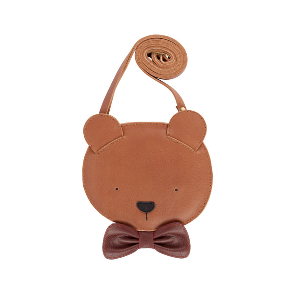 Britta Leather Bear Bag Purse