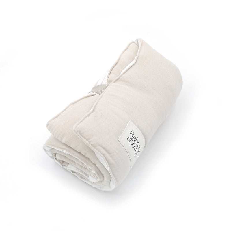 Organic Cotton Easy-fold Travel Changing Mat (Cloud)