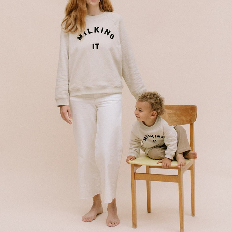 Milking It Sweatshirt (Oat)