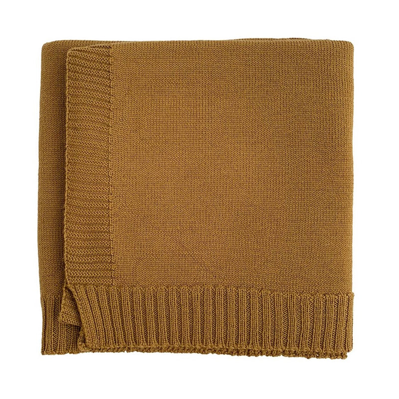 The Didi Merino Wool Blanket (Mustard)