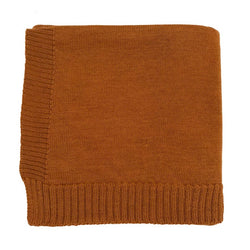 The Didi Merino Wool Blanket (Rust)