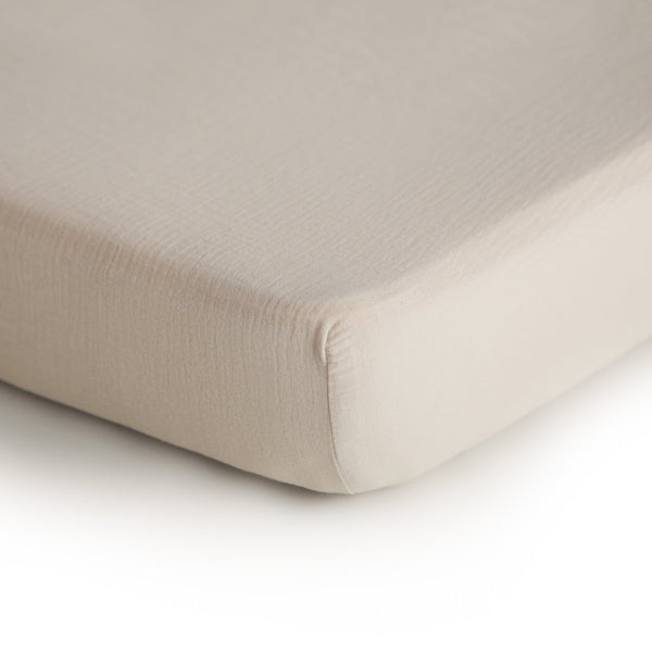 Extra Soft Cotton Crib Sheet (Fog)